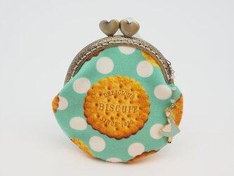 気持ち華やぐがま口ポーチ・コインケース(口金8.5センチ)クッキーの画像