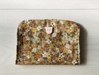 花柄のカードケースの画像