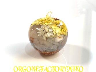 訳あり 癒し 恋愛 月のエネルギー 六芒星 幸運メモリーオイル入り りんごちゃん オルゴナイトの画像