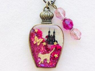 香水瓶キーホルダー ウサギ (紅の城)の画像