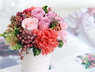 chouchou (シュシュ) プリザーブドフラワー ピンク 退職祝い・誕生日・プチギフトの画像