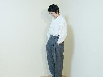 wide pants wool  -gray-の画像