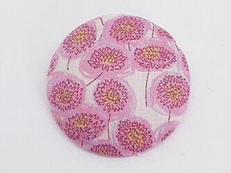 ブローチ・リバティプリント使用(ピンクお花)の画像