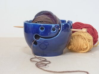 ヤーンボウルsmile 青の画像