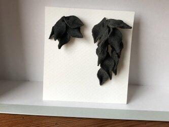 イヤリング 黒の画像