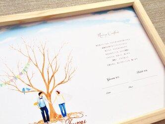 ▪️picktap's gallery▪️ウェディングツリー&シールセット  結婚証明書 ゲストブック 芳名帳の画像