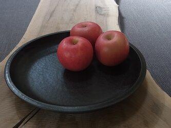 漆黒リム尺皿  (箸置き5個付き)の画像