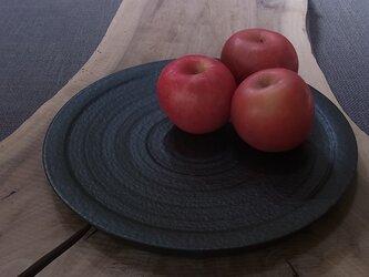漆黒台皿   (箸置き5個付き)の画像