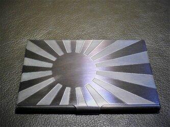 旭日旗 彫金 カードケース 14枚収納タイプの画像