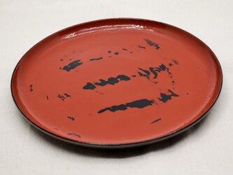 パスタ皿 黒漆朱漆研出灰色漆の画像