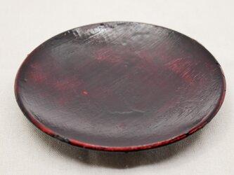土器皿 朱漆生漆黒漆研出の画像