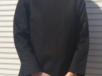 体型カバーTブラウスディープブラックの画像