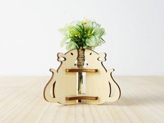 「ハナとねずみ」木製一輪挿しの画像