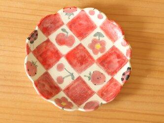 ※K様専用画面 粉引き市松とかわいいもののお皿。の画像