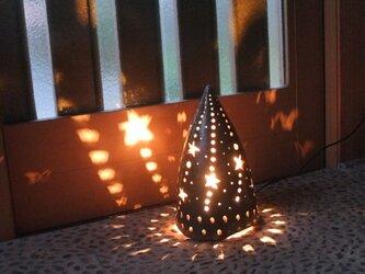 クリスマスランプ お正月新築祝い 備前焼 石田育男氏 冬のランプ 美しい焼き色の画像