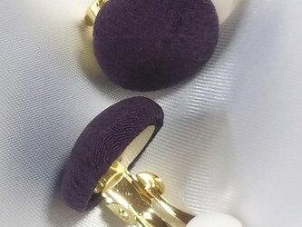 紫根染 蝶バネ イヤリング miniの画像