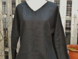 Soldout期間限定SALE!リネンの裾ふんわりバルーンブラウスの画像