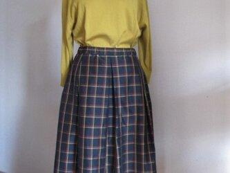 チェックのソフトプリーツスカートの画像