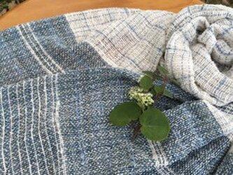 手紡ぎオ-ガニック和綿ストールの画像