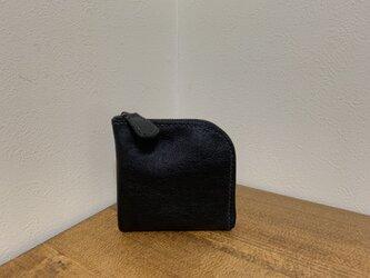 上質牛革 L字財布◆黒の画像