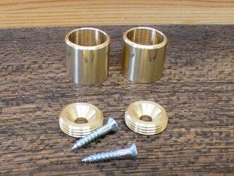 Φ13㎜用 真鍮無垢 アンティーク  パイプ固定 Fixedソケット  / パイプや棒固定金具。ハンガー掛け等に。の画像
