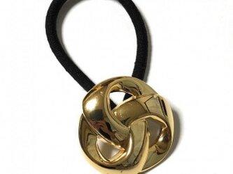 ジャパン 世界の飾りボタン ヘアゴム ゴールド[mazh-130]の画像