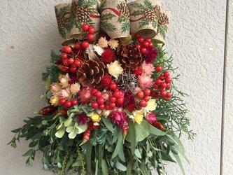 可愛いクリスマススワッグ(受注制作)の画像