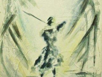 絵画 インテリア キャンバス画 墨と水彩のコラボ画 協奏曲 1の画像
