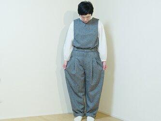 wide pants wool  -Herringbone-の画像