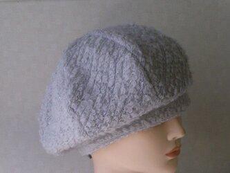 魅せる帽子☆【受注製作】ふわモコ♪あったかベレーの画像