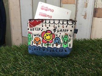 キノコ&サボテン刺繍パスケースの画像