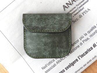 イタリア革のコインケース/グリーンの画像