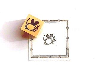<ゴム製スタンプ>年賀状にもおすすめ「走る 子ネズミ」の画像