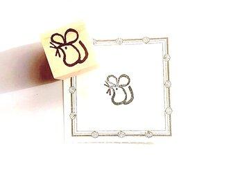 <ゴム製スタンプ>年賀状にもおすすめ「子ネズミ」の画像