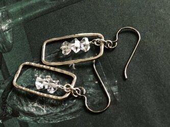 herkimer diamond*silver pierceの画像