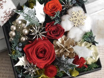 赤ばらのクリスマスBOXの画像