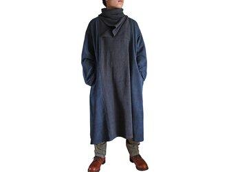 ジョムトン手織り綿配色メンズワンピース(DFS-044-03)の画像