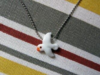 ネックレス・白文鳥の画像
