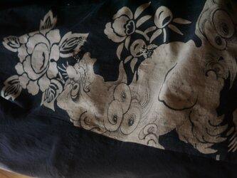 確認用画像1古布獅子柄の後ろギャザーコートの画像