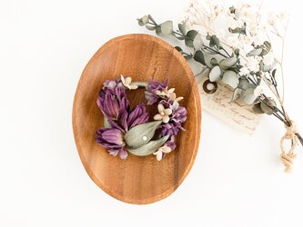"""Corsage : コサージュ """" チューリップ×紫陽花の花冠 """"の画像"""