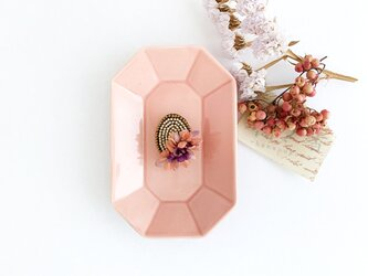 """Brooch : ブローチ """" Embroidery and flower brooch. """"【SALE】の画像"""