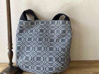 bag[手織り斜め掛けワンショルダーバッグ]ネイビーの画像