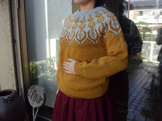 SALE マスタード濃淡セーターの画像