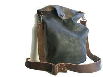 牛革 2way bag チャコールグレーの画像
