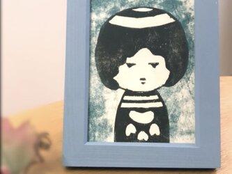 額入り木版画 こけしガールの画像