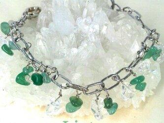 天然石*アベンチュリンと水晶のチャームの画像