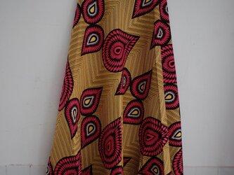 キテンゲ 半円形の巻きスカート yellow funkyの画像