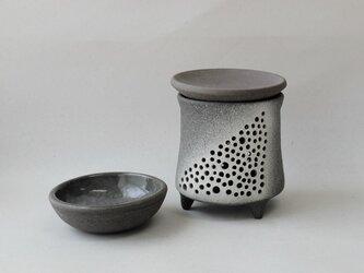 黒陶茶香炉またはアロマポット「天の川」の画像