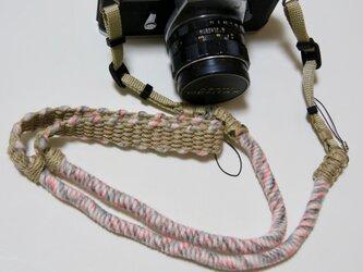 本数限定/アスレチックカラーヤーンの麻紐ヘンプカメラストラップの画像