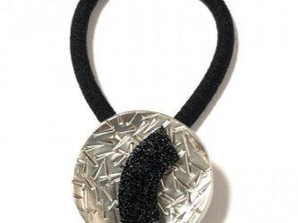 フランス 世界の飾りボタン ヘアゴム シルバー[mazh-131]の画像